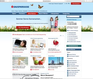 s Bausparkasse (Screenshot www.sbausparkasse.at am 22.7.2015)