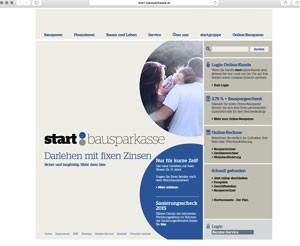 start bausparen: Screenshot von www.start-bausparkasse.at am 22.7.2015