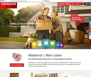 Screenshot der Wüstenrot-Website am 22.7.2015
